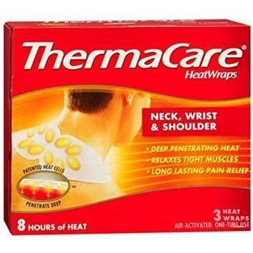ThermaCare Heatwraps- Neck, Shoulder and Wrist, Pack of 3