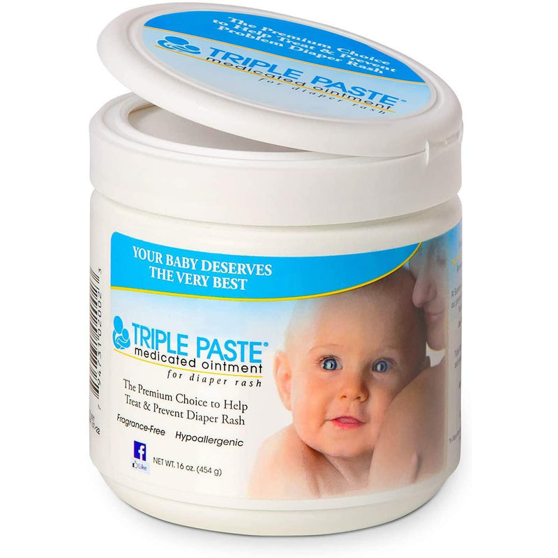 Triple Paste Medicated Ointment for Diaper Rash, 16 oz
