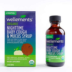 Wellements Organic Nighttime Baby Cough & Mucus Syrup, 2 oz