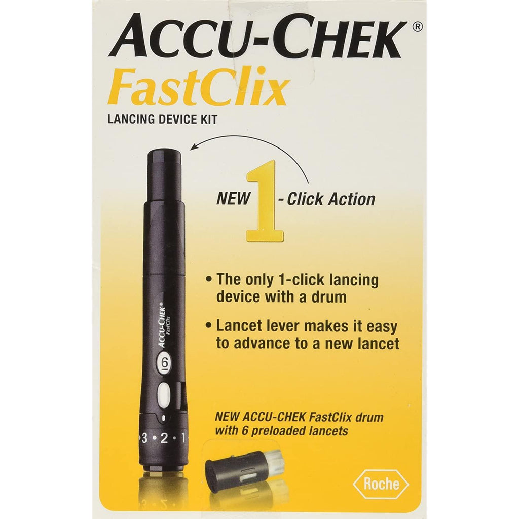 ACCU-CHEK Fastclix Lancing Device Kit, Black