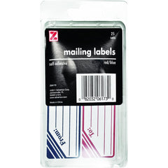 Advantus Self Adhesive to and from Mailing Labels, 25 Count