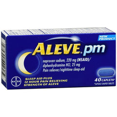Aleve PM Caplets, Pain Reliever/ Fever Reducer/ Sleep Aid, 40 Count