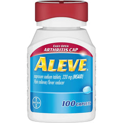 Aleve Easy Open Arthritis Cap Caplets, Pain Reliever/Fever Reducer, 100 Count
