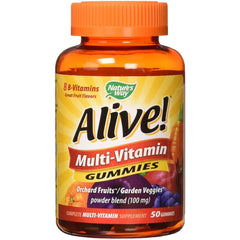 Nature's Way Alive! Multivitamin Gummies, Orchard Fruit and Garden Veggies, 50 gummies