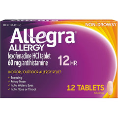 Allegra 12-Hour Allergy Relief, 12 Tablets