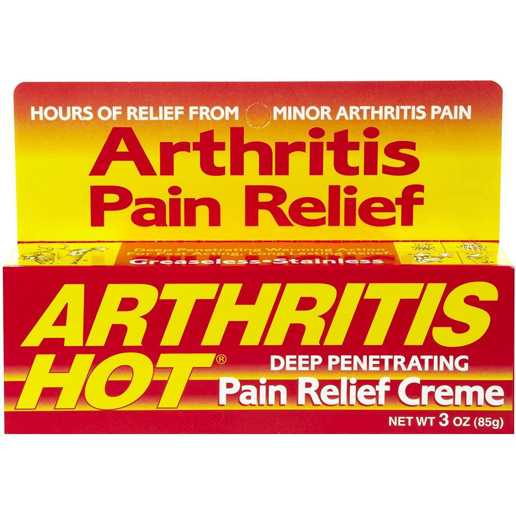 Arthritis Hot Pain Relief Creme 3 oz