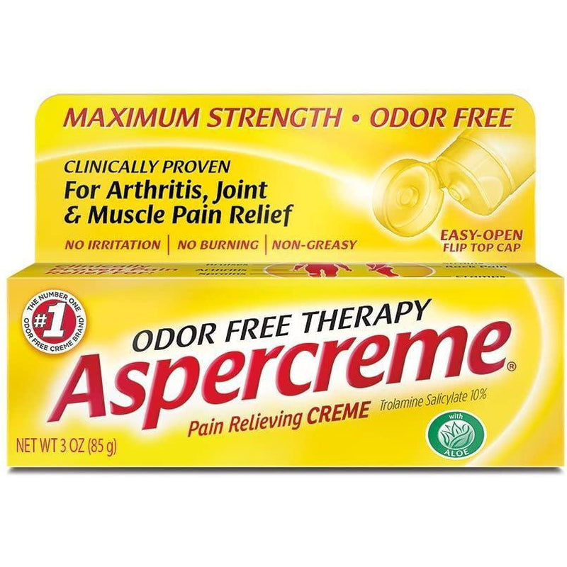 Aspercreme Odor Free Topical Analgesic Cream, 3 oz.