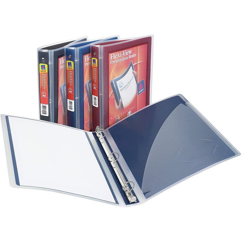 "Avery Flexi-View Binder with 1"" Round Ring, Assorted Colors, 1 Count"