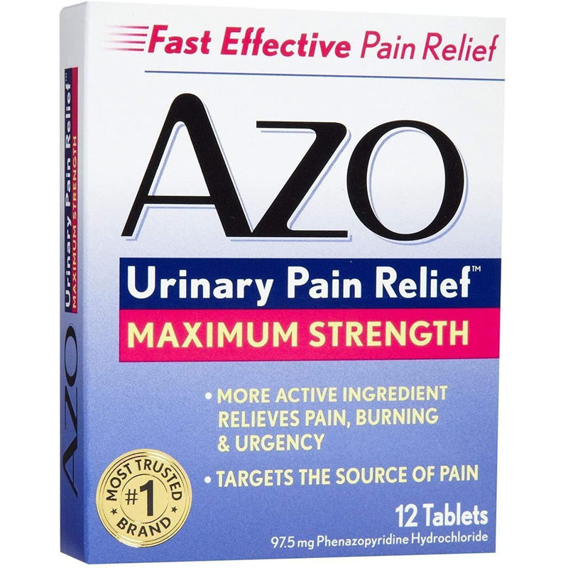 AZO Urinary Pain Relief Maximum Strength, 12 Tablets