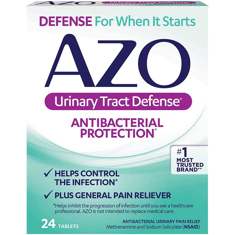 AZO Urinary Tract Defense Antibacterial Protection, 24 Tablets