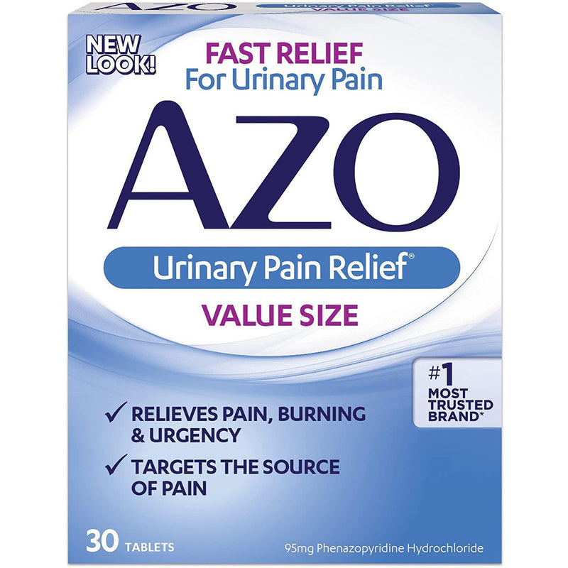 AZO Urinary Pain Relief with Phenazopyridine Hydrochloride, 30 Tablets