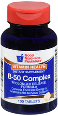 GNP Vitamin B-50 Complex Prolonged Release - 100 tablets