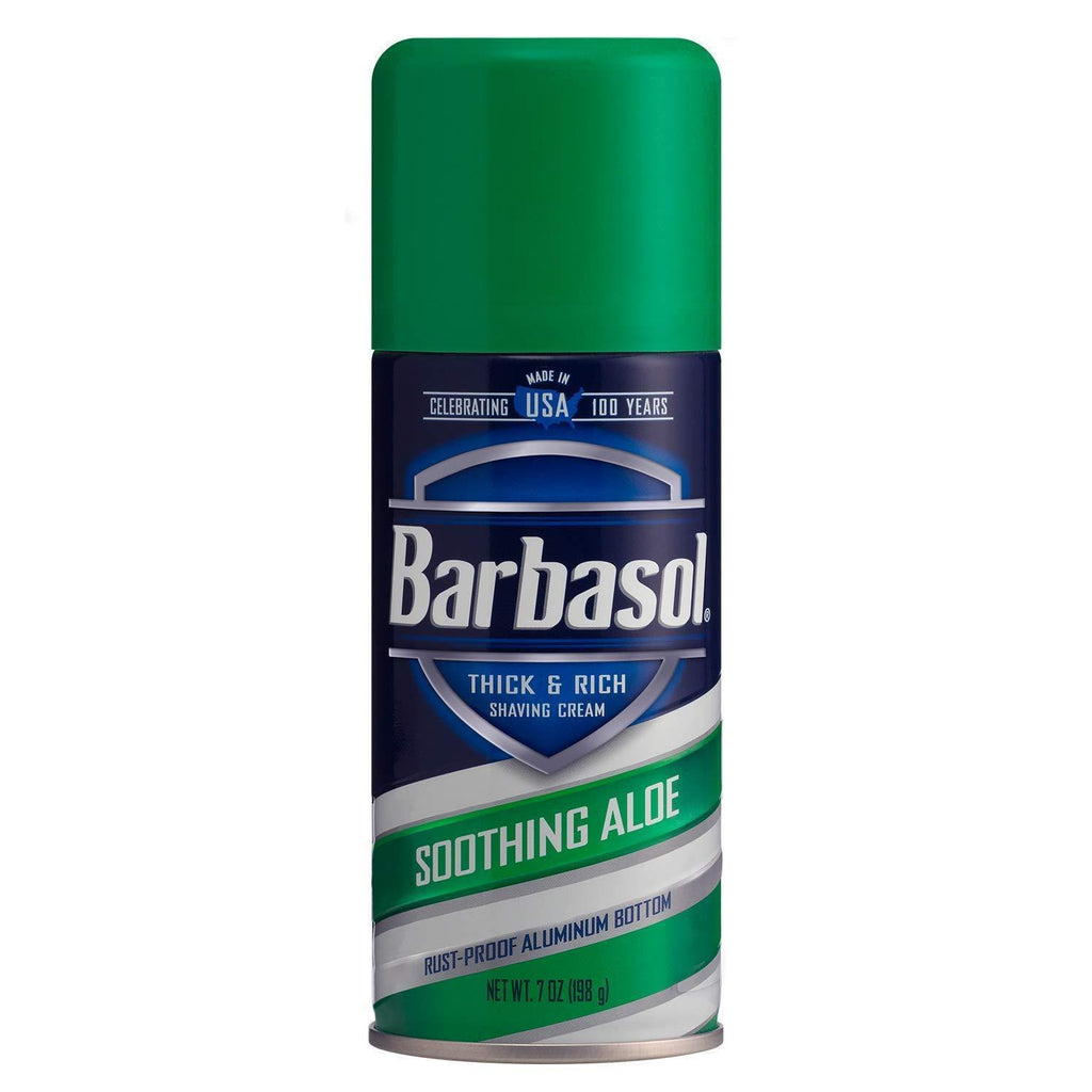 Barbasol Shave Cream, Soothing Aloe, Thick & Rich - 7 Oz