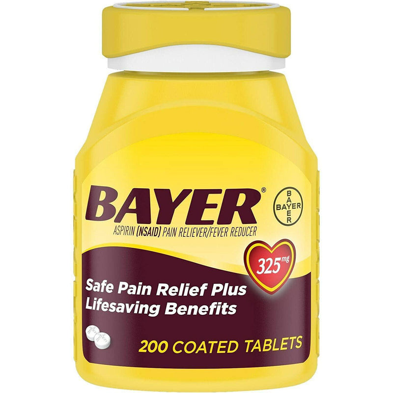 Bayer Genuine Aspirin 325mg Coated Tablets, 200 Count