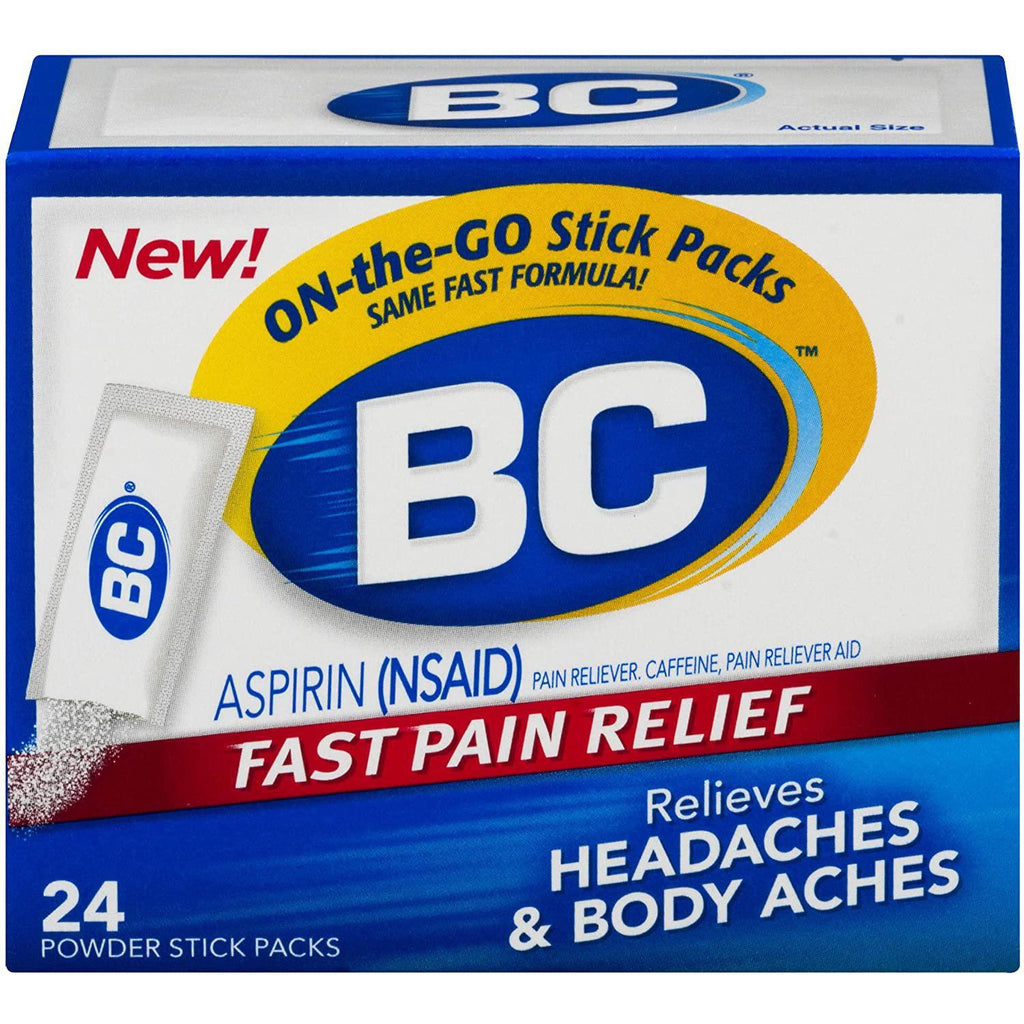 BC Powder, Fast Pain Relief, Aspirin and Caffeine, 24 Packets