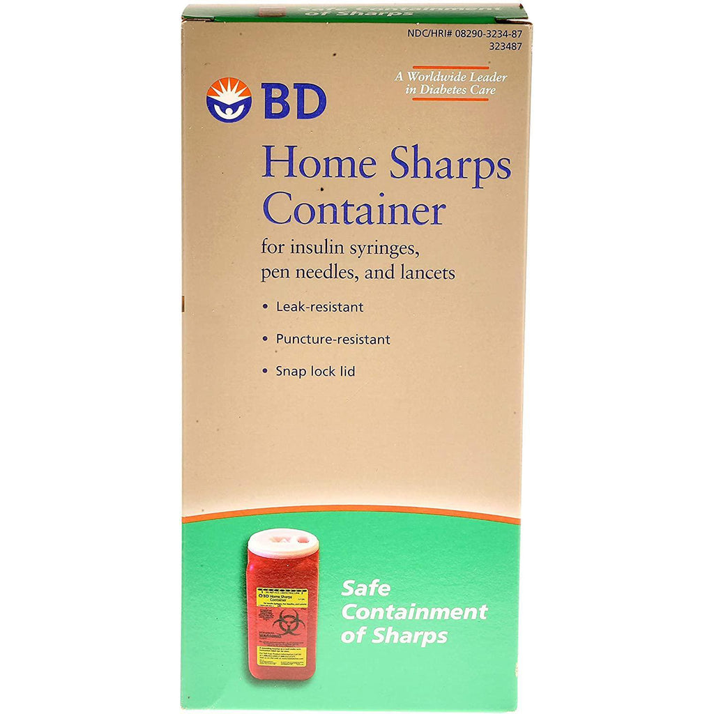 BD Home Sharps Container, 1 Each