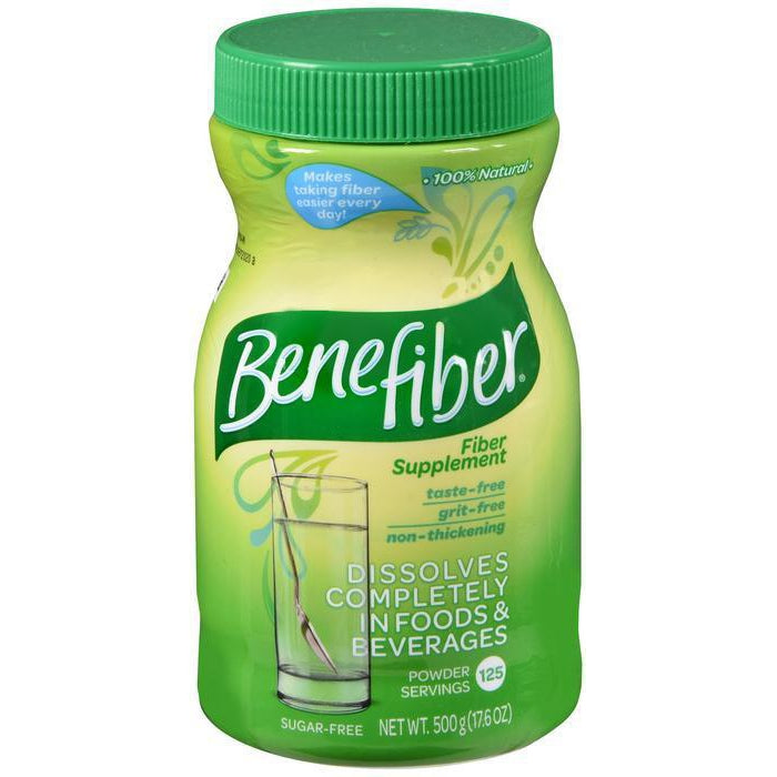 Benefiber Fiber Supplement, Sugar Free, 125 Powder Servings - 500 grams