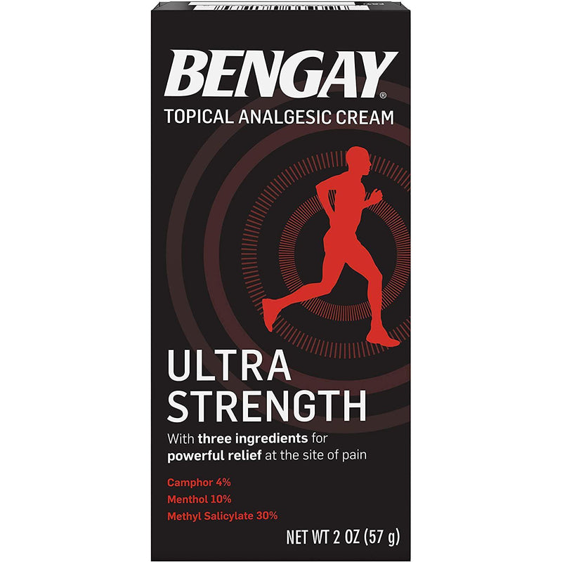 Bengay Ultra Strength Pain Relief Cream, Topical Analgesic for Arthritis, Muscle, Joint & Back, 2 oz.