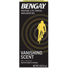 Bengay Menthol 2.5% Topical Analgesic Gel Vanishing Scent 2 oz.
