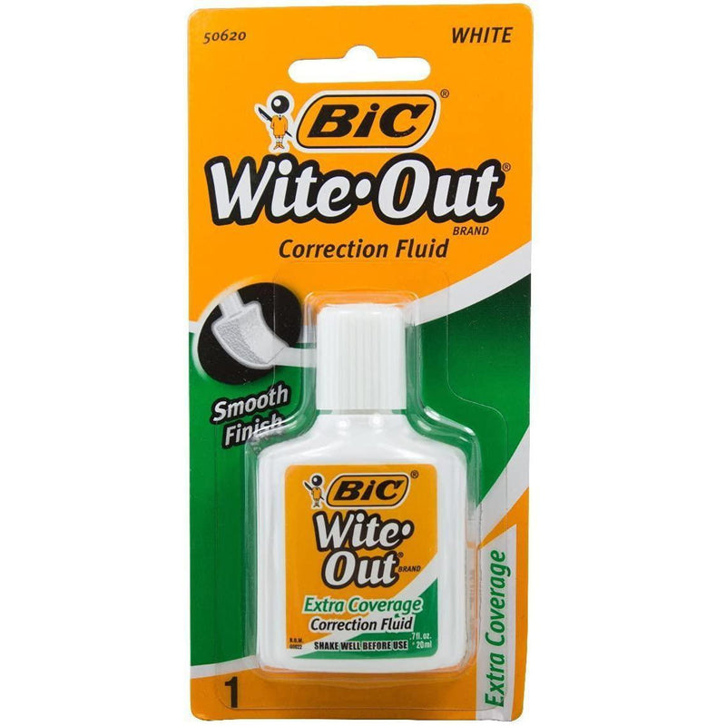 Wite-Out Extra Coverage Correction Fluid, 0.7 Oz, 1 Count