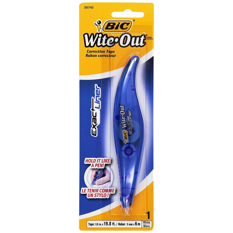 BIC Wite-Out Liner Correction Tape, White, 1 Count