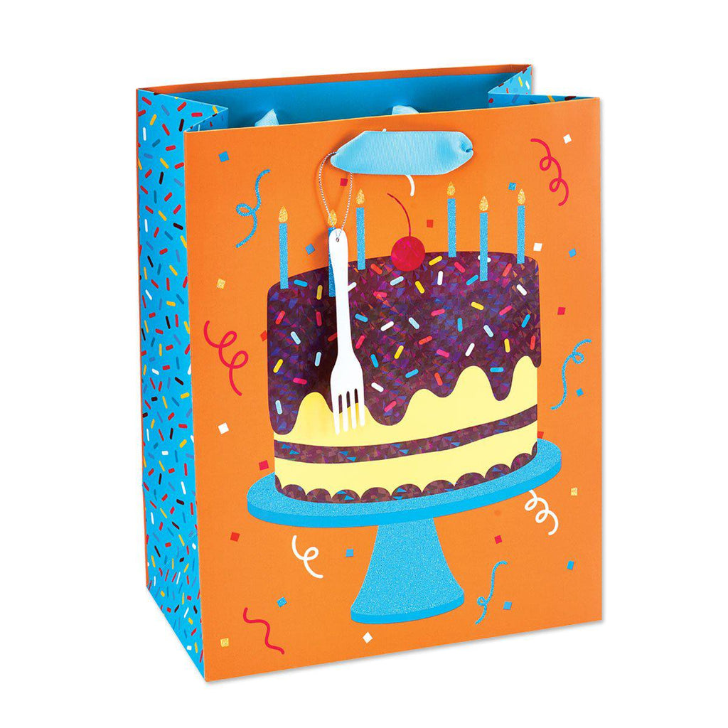 Gift Bag- LRG BG PIECE OF CAKE