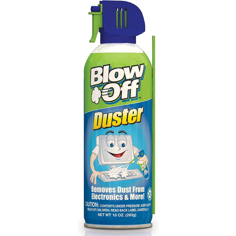 Blow Off Air Duster Can with Nozzle, 10 oz