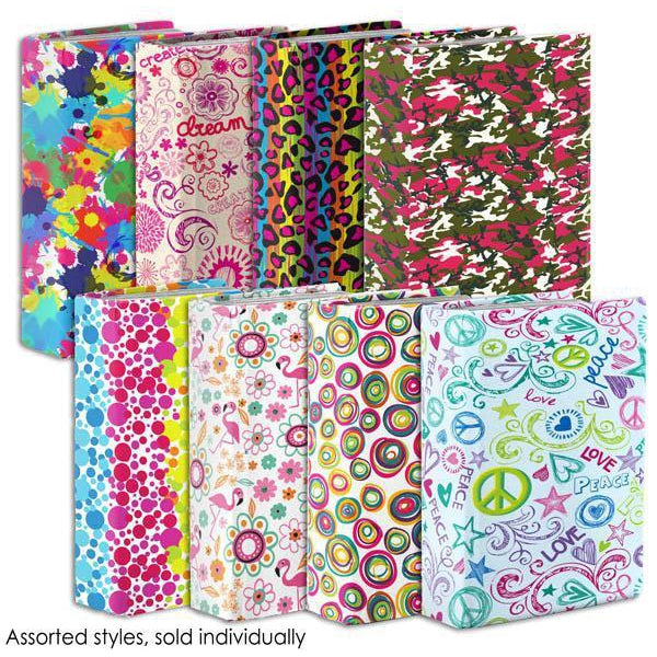 "Stretchable Jumbo Book Cover, 9"" x 11"" Assorted Print Designs, 1 Count"