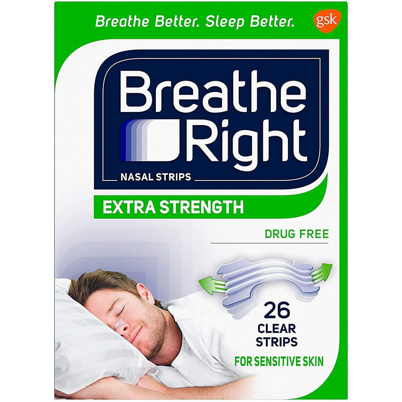 Breathe Right Extra Strength Nasal Strips, 26 Clear Strips