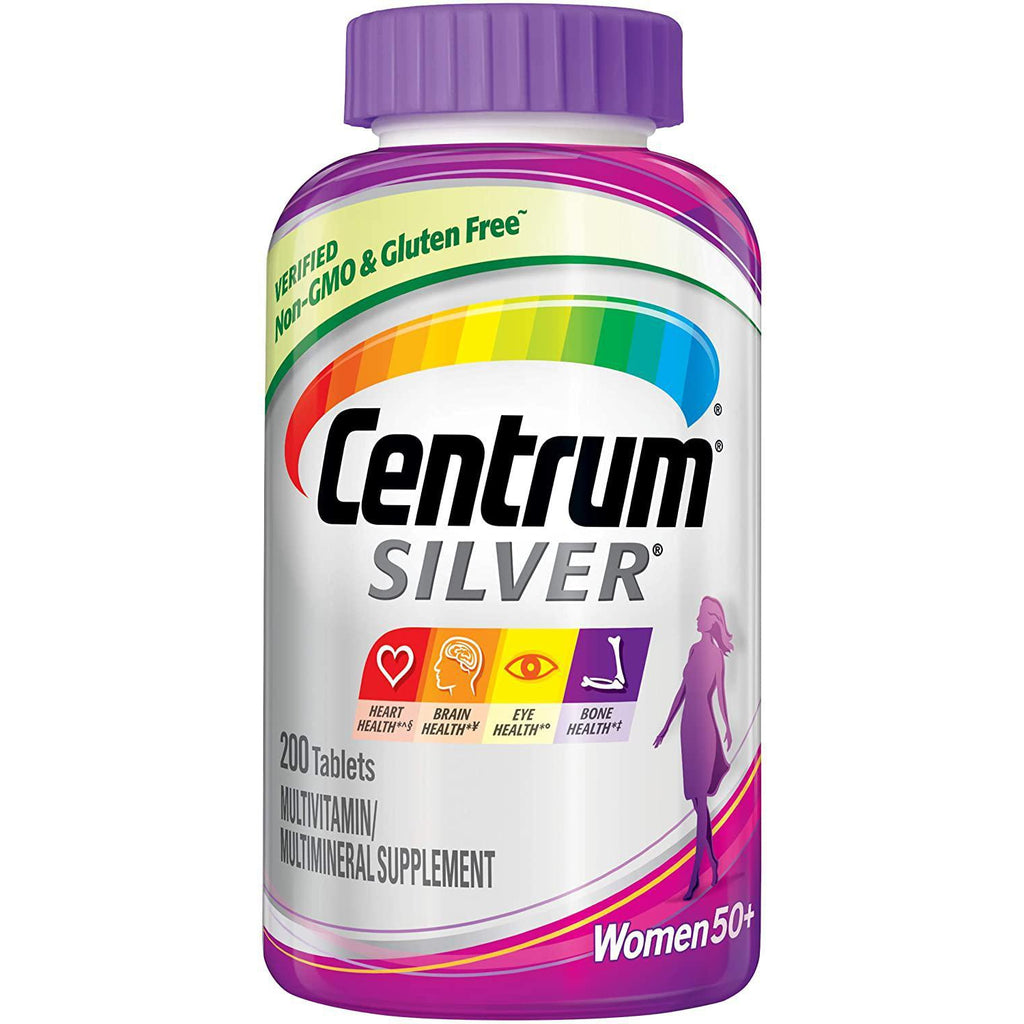 Centrum Silver Multivitamin for Women 50+, Multivitamin/Multimineral Supplement, 200 tablets