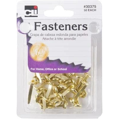 Charles Leonard Brass Fasteners, 50 Count