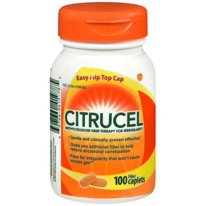 Citrucel Caplets Fiber Therapy for Occasional Constipation Relief - 100 count