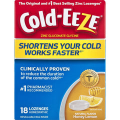Cold-EEZE Cold Remedy Lozenges Honey Lemon, 18 Lozenges in one Pack