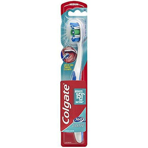 Colgate 360 Toothbrush with Tongue and Cheek Cleaner, Medium - 1 count