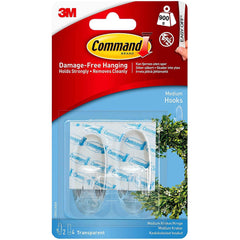 3M Command Hooks, Medium, Clear, 2 Count