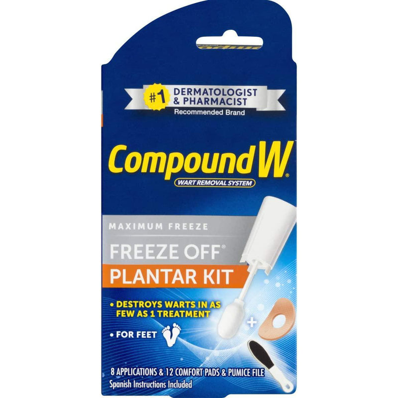 Compound W Freeze Off Plantar Wart Removal, 8 Pads