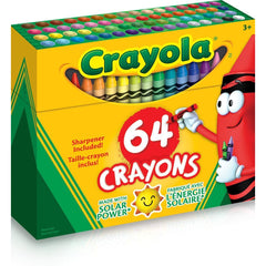 Crayola Crayons with Sharpener, 64 Count