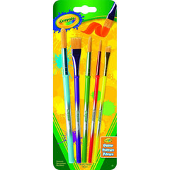 Crayola Arts & Craft Brushes, Assorted, 5 Pack