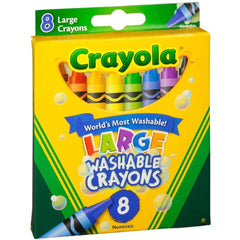 Crayola Large Washable Crayons, 8 Count