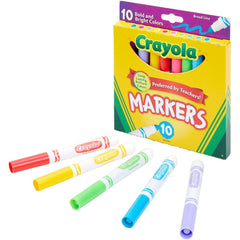 Crayola Broad Line Markers, Bold & Bright Colors, 10 Count