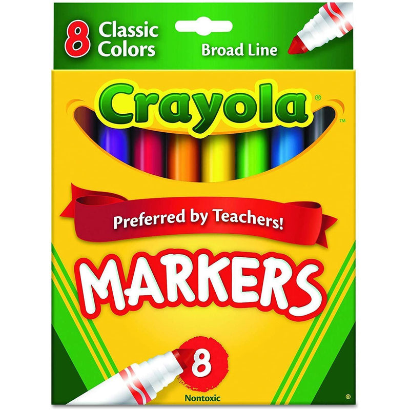 Crayola Classic Markers, Broad Line, 8 Count