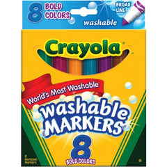 Crayola Bold Broad-Line Washable Markers, 8 Count