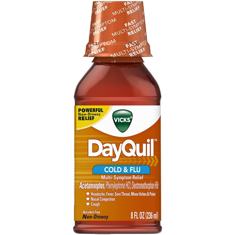 Vicks DayQuil Cold & Flu Relief Liquid 8 fl oz in One Bottle