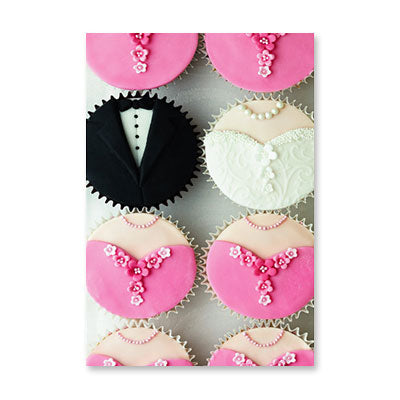 RECYCLED - Cupcake Bride Groom