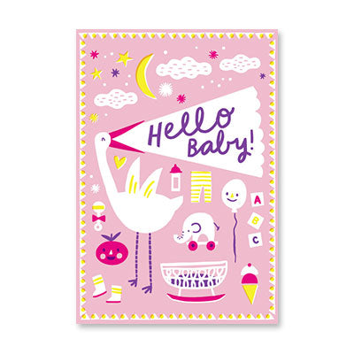RECYCLED - Stork Hello Baby Girl