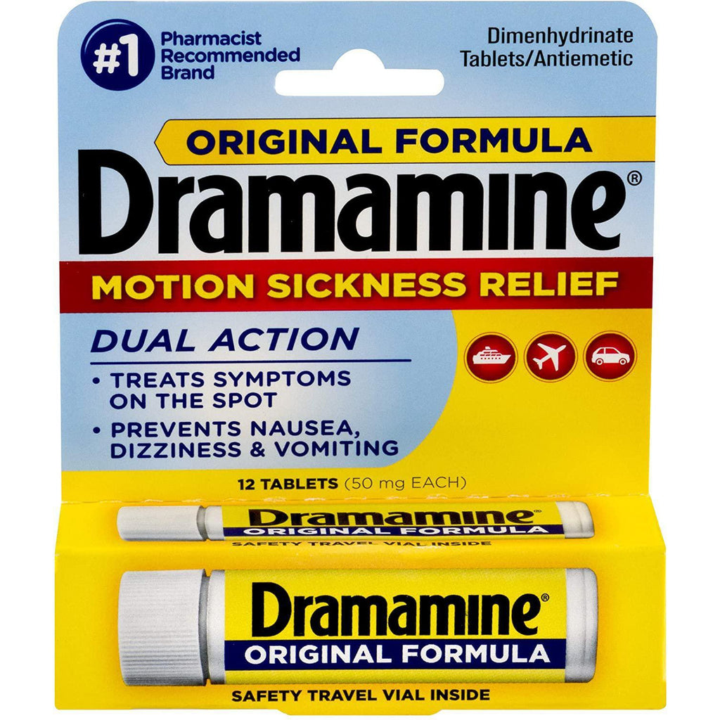 Dramamine Original Formula Motion Sickness Relief, 12 Count