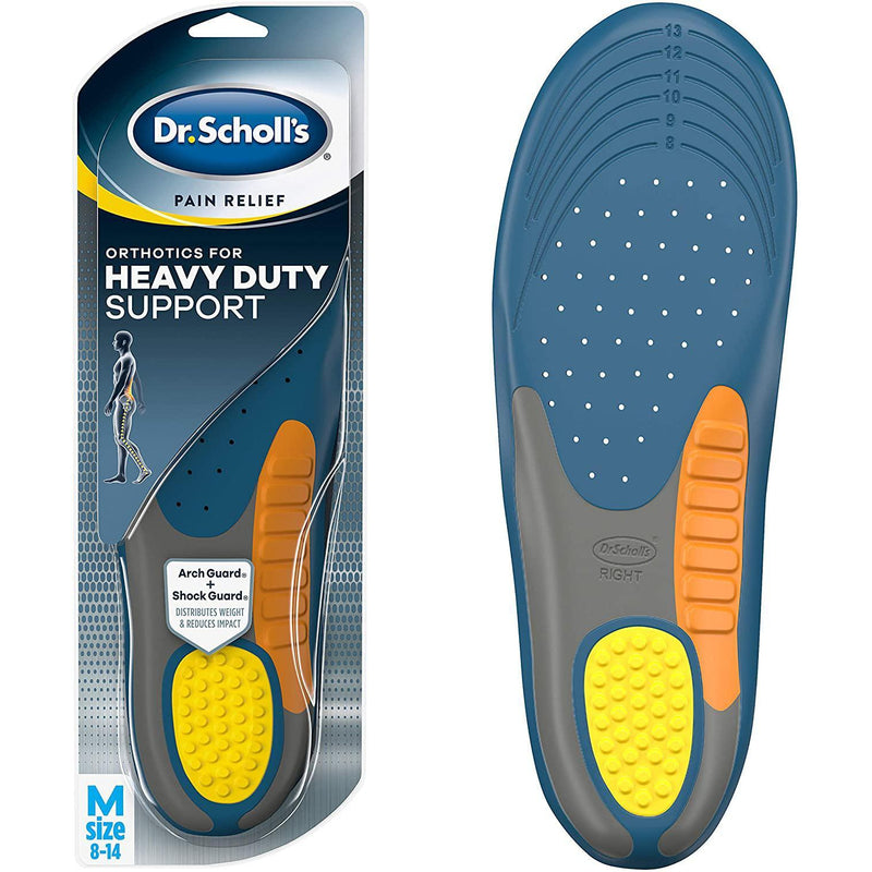 Dr. Scholl's Heavy Duty Support Pain Relief Orthotics, Men's 8-14, One Pair