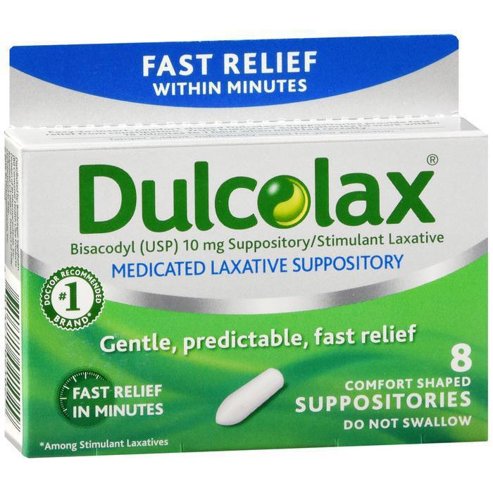 Dulcolax 10mg Suppository - 8 count