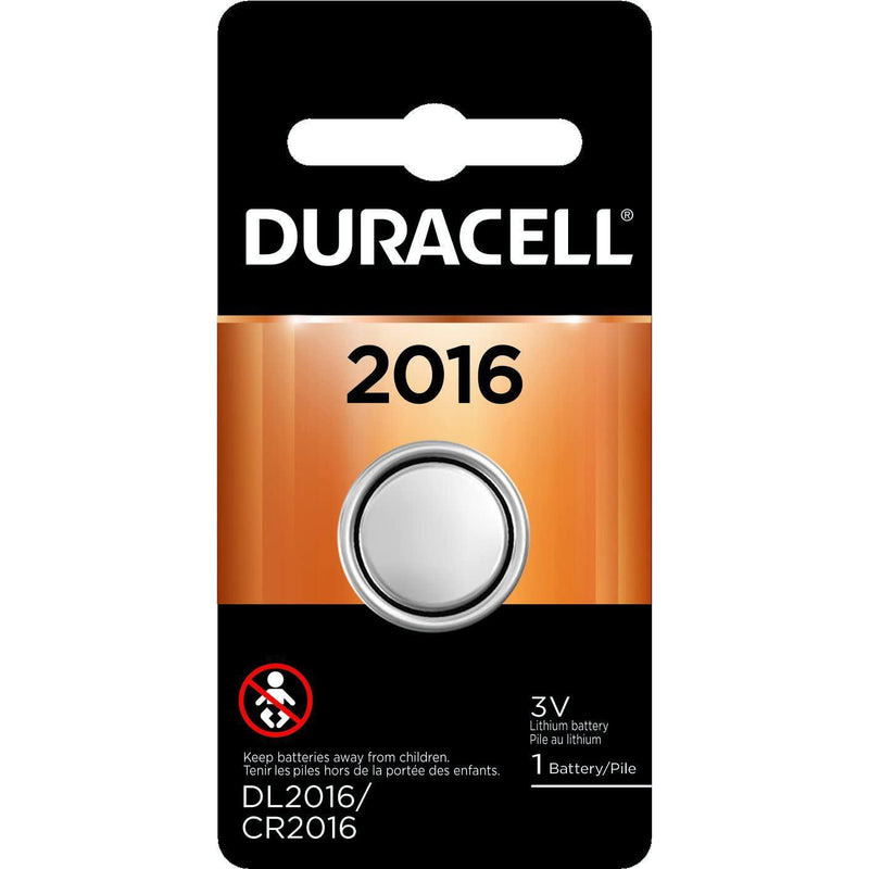 Duracell 2016 3V Lithium Coin Battery, 1 Count