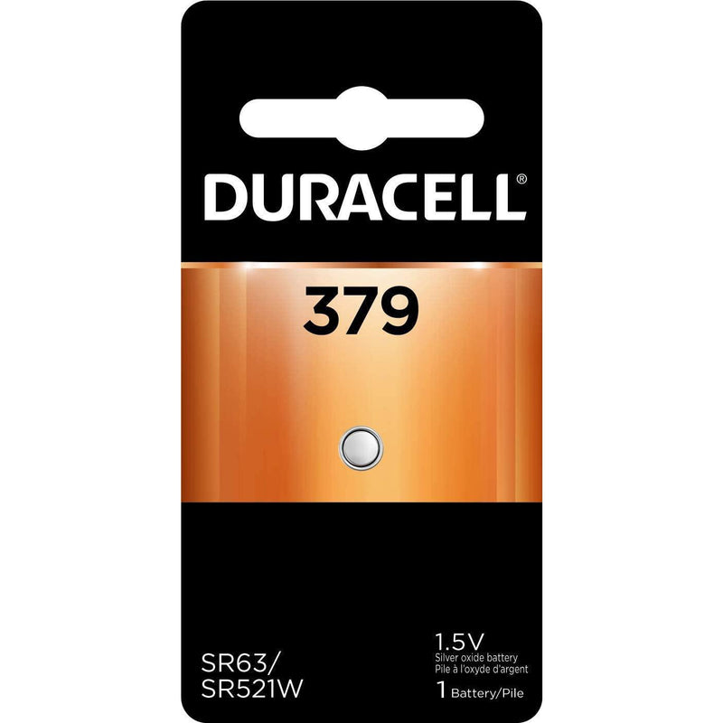 Duracell 379 1.5V Silver Oxide Button Battery, 1 Count